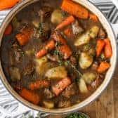 Lamb Stew Irish Stew in a pot