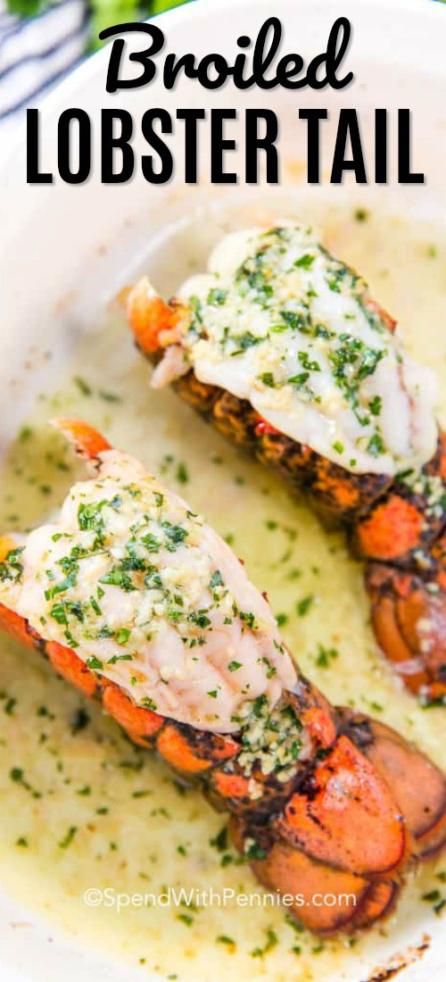 Broiled Lobster Tail with title