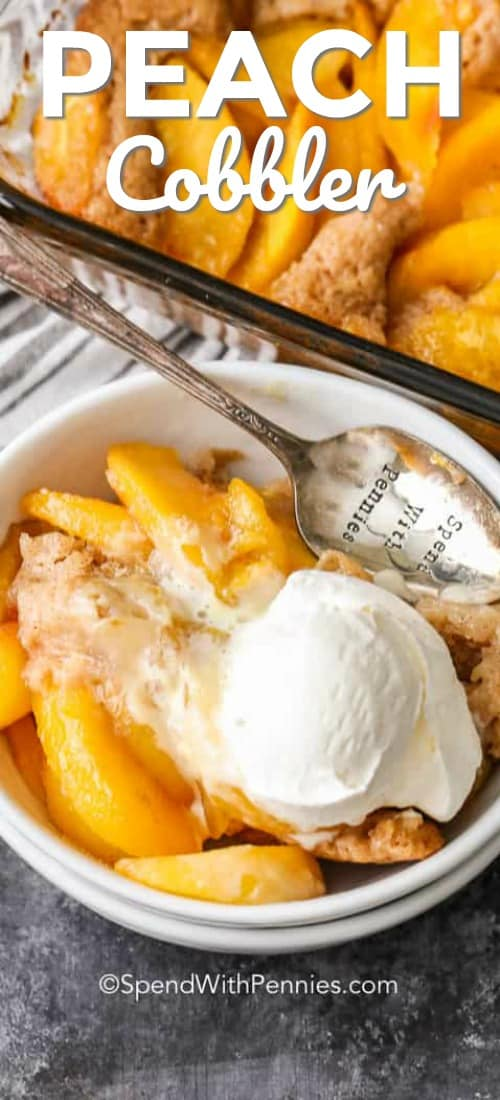 Peach Cobbler with title