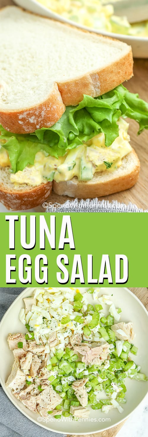 Tuna Egg Salad with a title