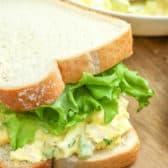 Tuna Egg Salad sandwich