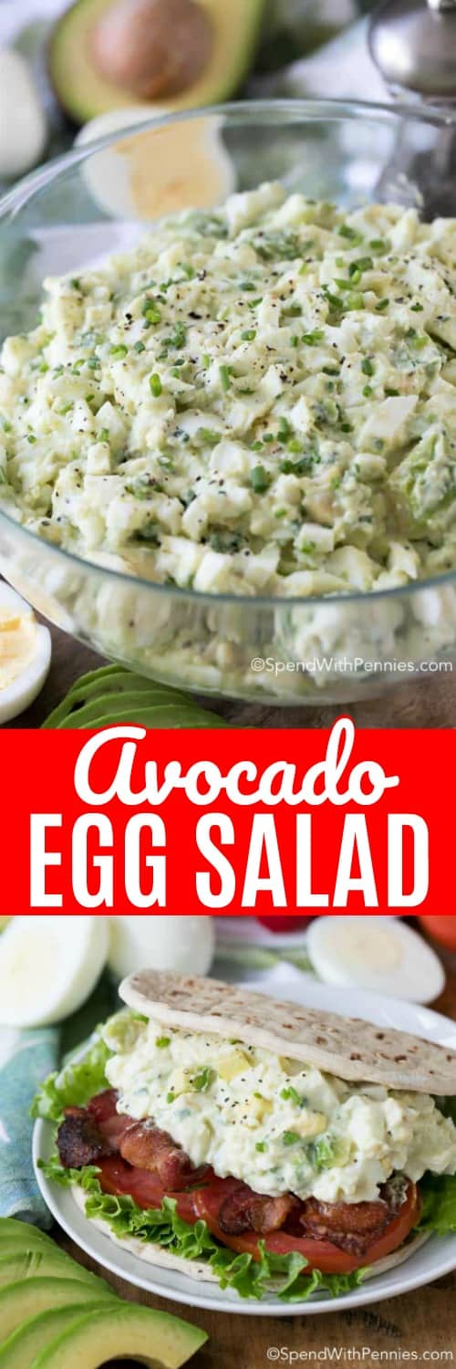 Avocado Egg Salad with a title