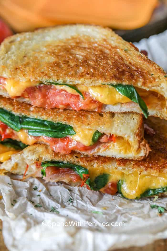 BLT Grilled Cheese sandwich