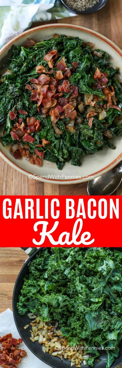 Kale can be a tricky superfood to cook! This guide tells you all about how long to cook kale, how to oven bake kale and just how to cook kale in general! We have fallen for this superfood now that we know how to cook it properly! #spendwithpennies #howtocookkale #superfood #healthyeating #sidedish #garlickale
