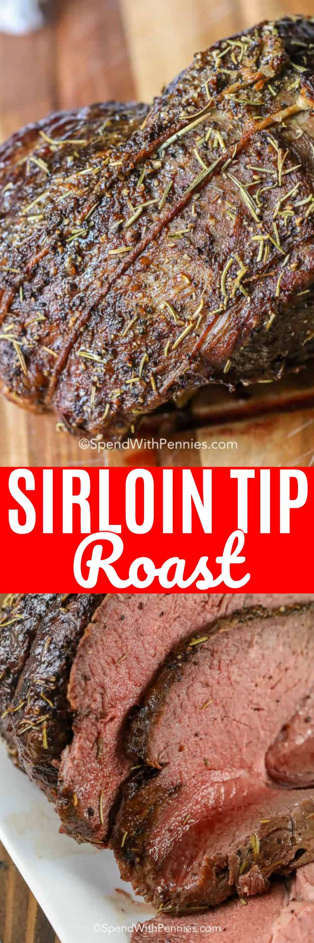 Sirloin Tip Roast with a title