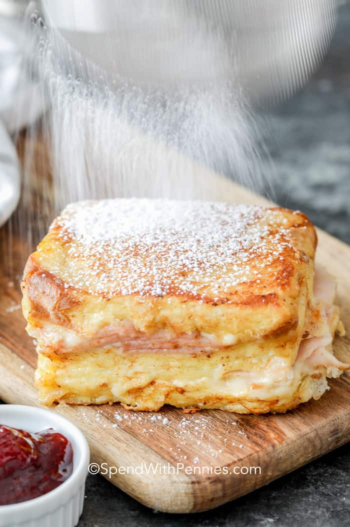 Monte Cristo with powdered sugar