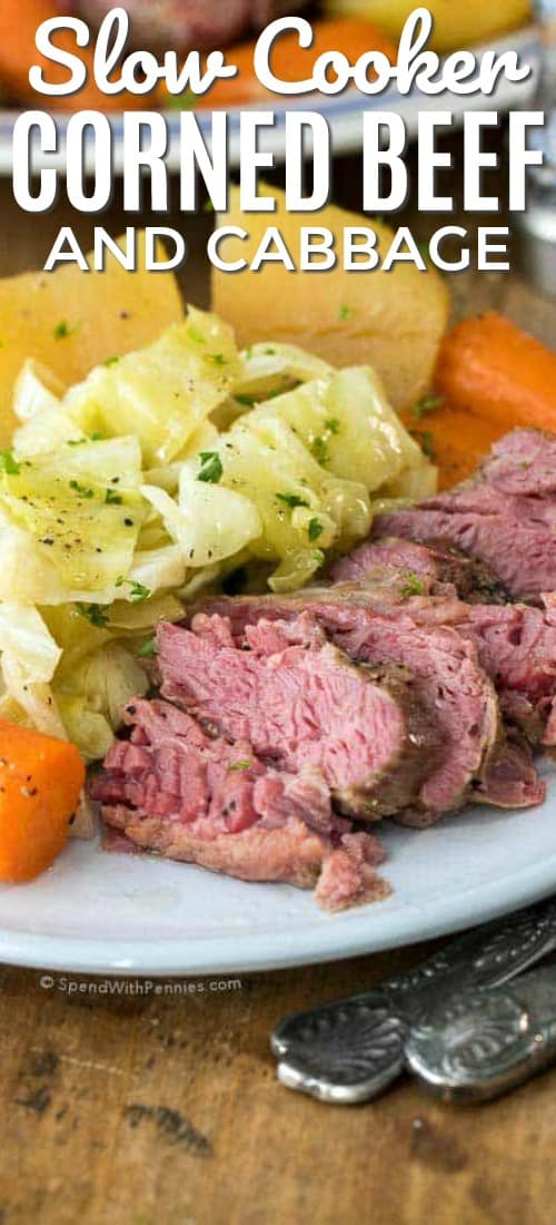 Corned Beef And Cabbage Slow Cooker Recipe Video Spend With Pennies