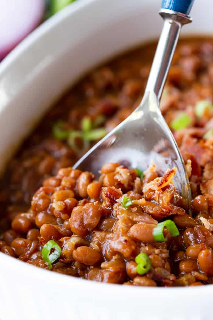 Baked Beans with a spoon