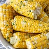 Boiled Corn in a bowl