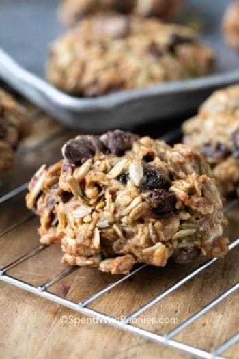 Rubys Breakfast Cookies on a cooling rack