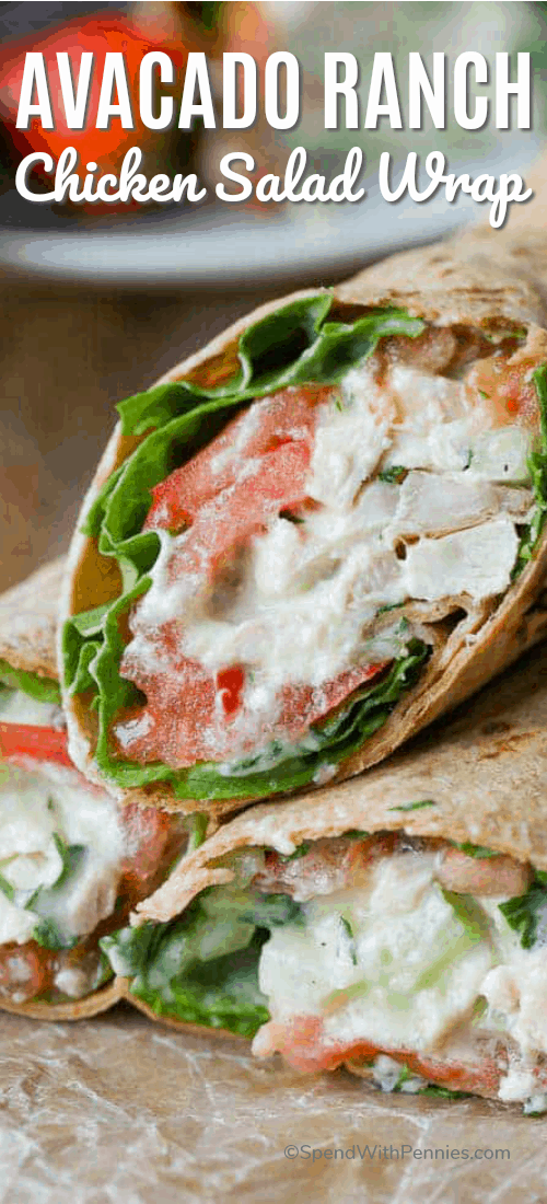 Chicken Salad Wraps piled on top of each other