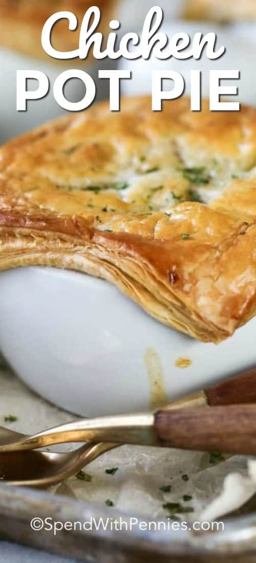 Chicken pot pie with a title