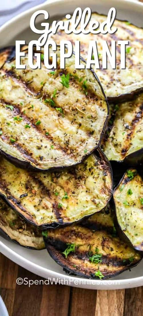 Grilled Eggplant with a title