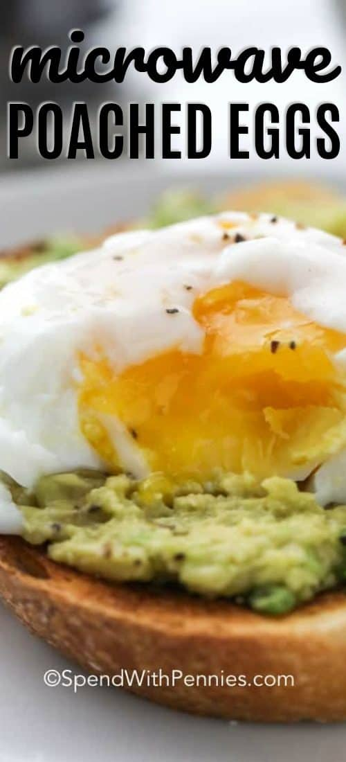 A poached egg sitting on top of avocado toast