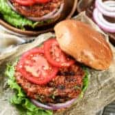 Turkey Burgers on buns with tomatoes and pickles