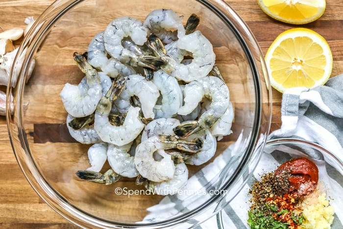 Garlic Grilled Shrimp ingredients