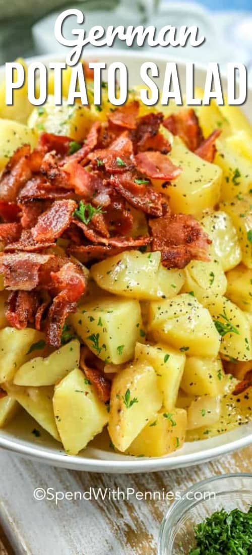 German Potato Salad shown with a title