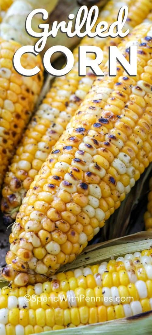 Grilled Corn shown with a title