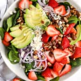 strawberry spinach salad with avocado