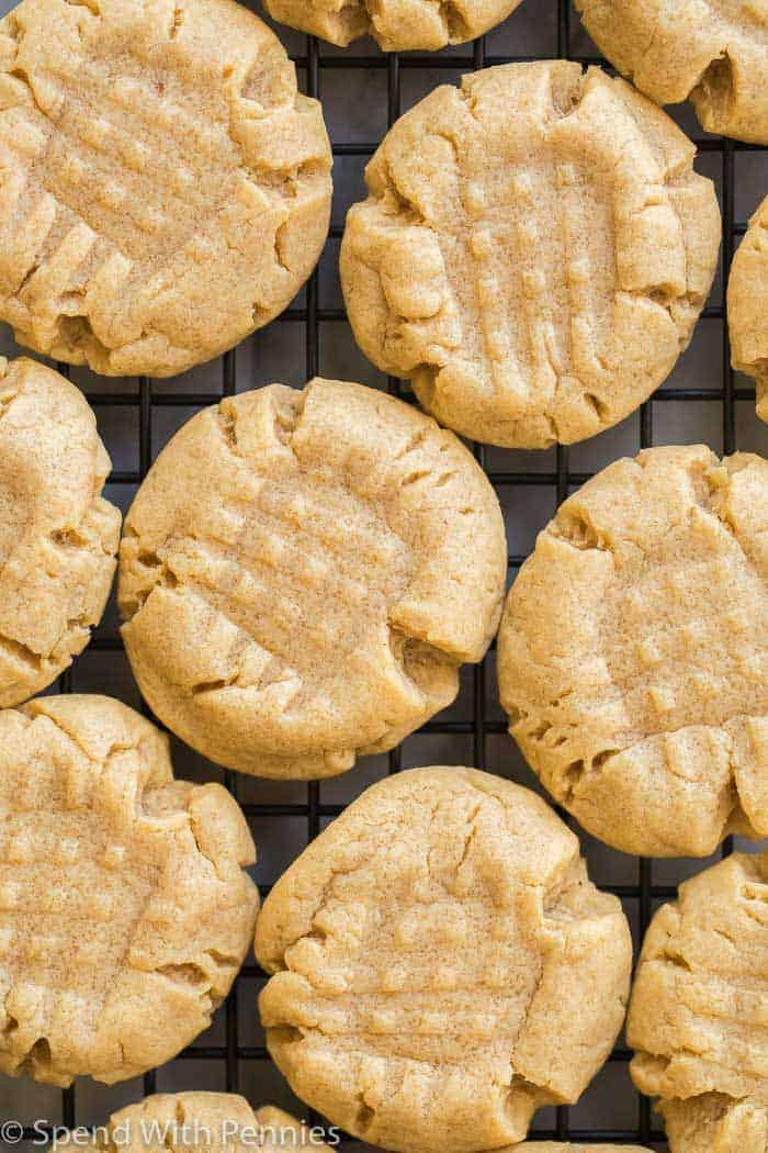 close up peanut butter cookies