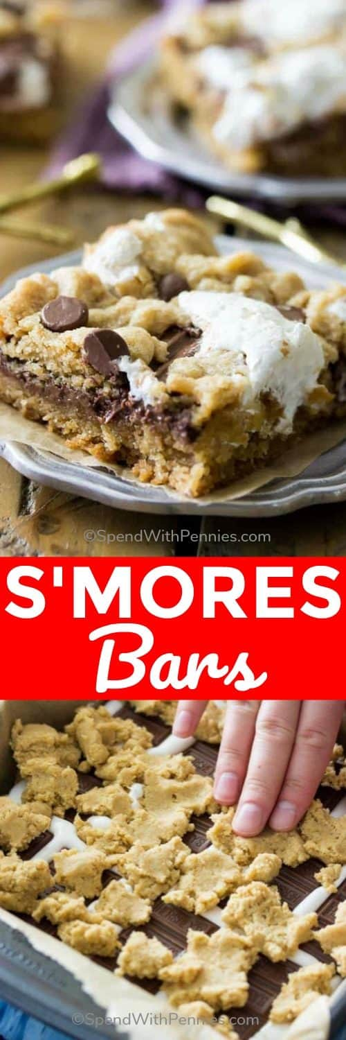 Smores bar on plate