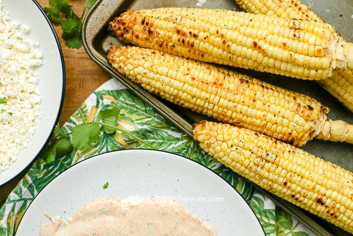 grilled corn for Mexican Grilled Corn Elote