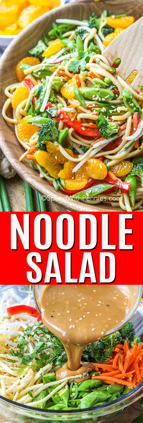 Asian Noodle Salad with a title