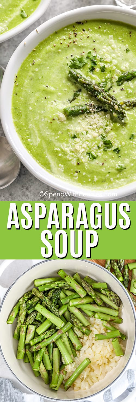 Asparagus Soup with a title