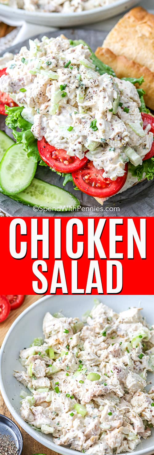Classic Chicken Salad with a title