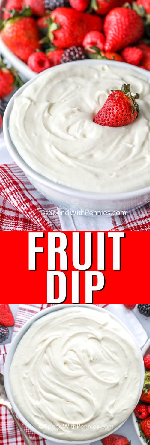 Fruit dip with a title