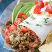 Ground Beef Burrito on a plate