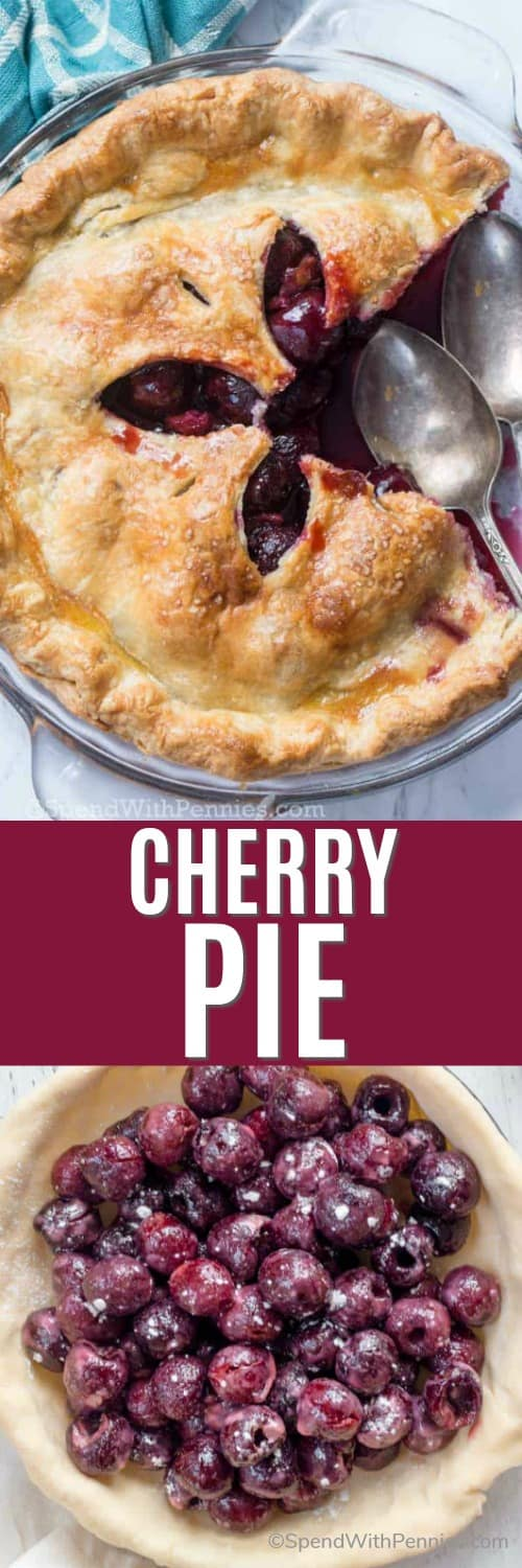 Cherry Pie with a title