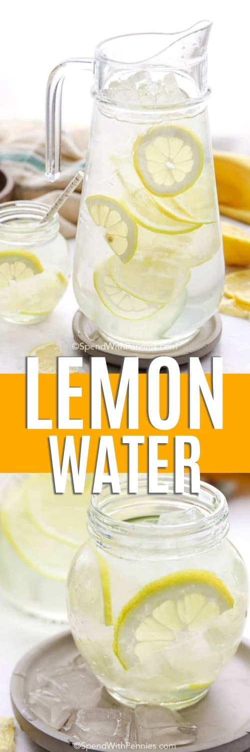 Lemon Water with a title