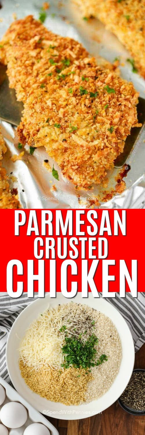 Parmesan Crusted Chicken with wording