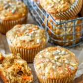 Morning Glory Muffins in a basket
