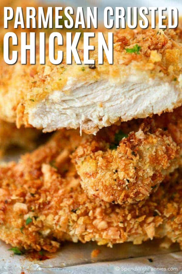 Parmesan Crusted Chicken with a title