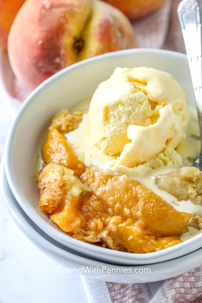 Peach Dump Cake 4 Ingredients Spend With Pennies