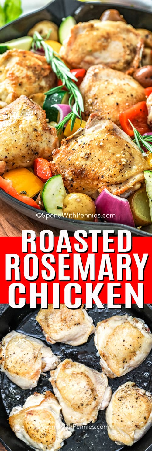 Roasted Rosemary Chicken with a title