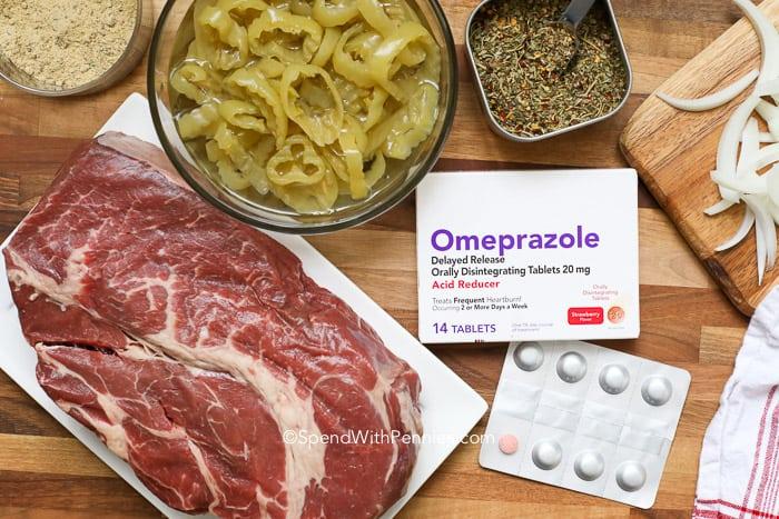 Overview of Italian Beef Slider ingredients.