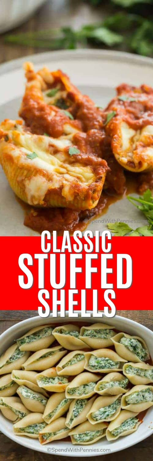 uncooked Stuffed shells in a casserole dish
