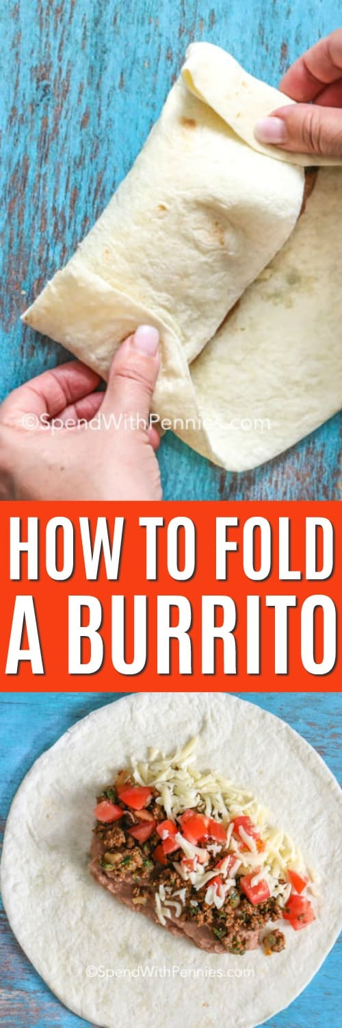 How to fold a burrito with writing