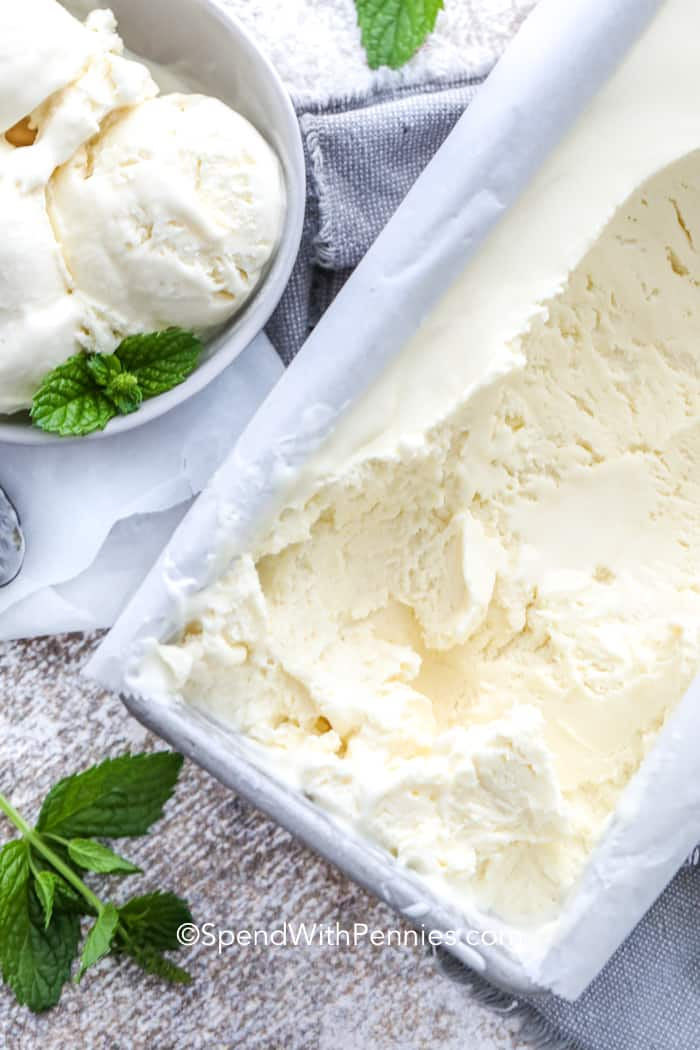 3 Ingredient No Churn Ice Cream (Basic