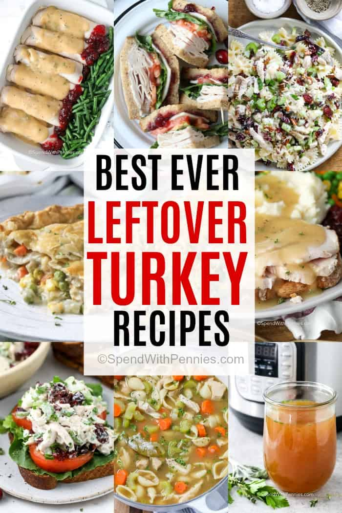 Leftover turkey recipes with a title