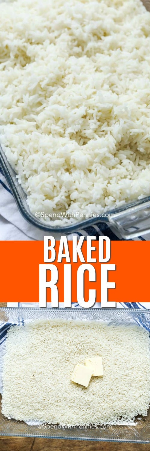 baked rice after baking and before