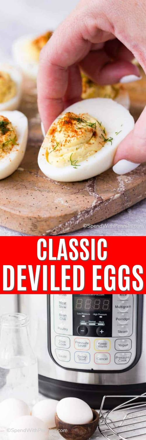 deviled eggs, with an instant pot