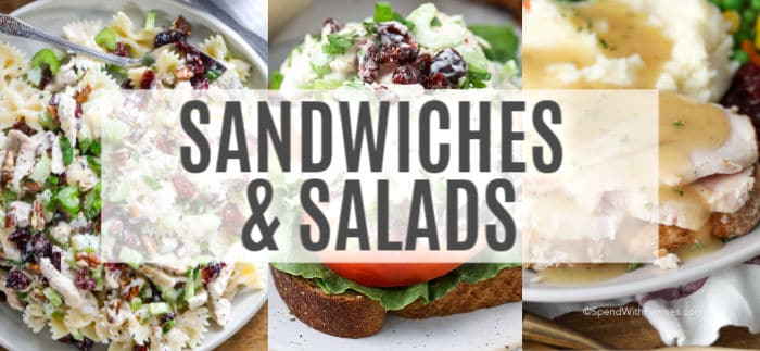 Leftover turkey salad and sandwiches recipes with a title