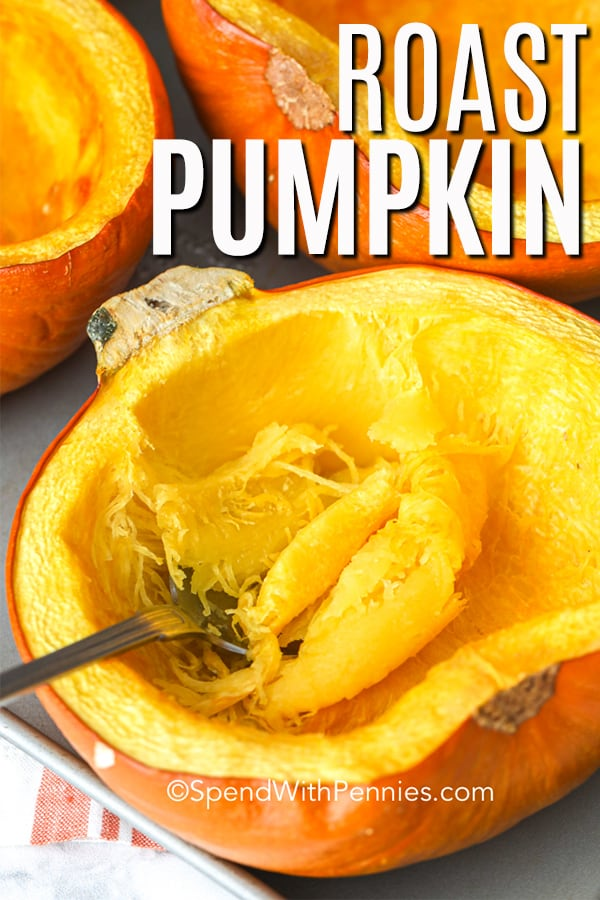 Roasted pumpkin in a serving bowl.