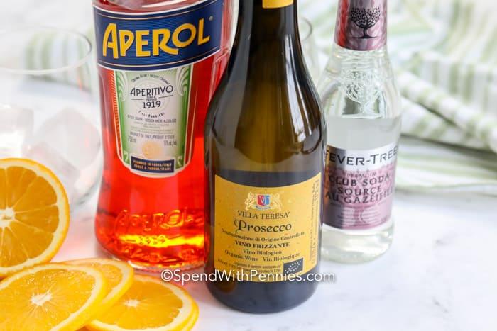 Ingredients for Aperol Spritz