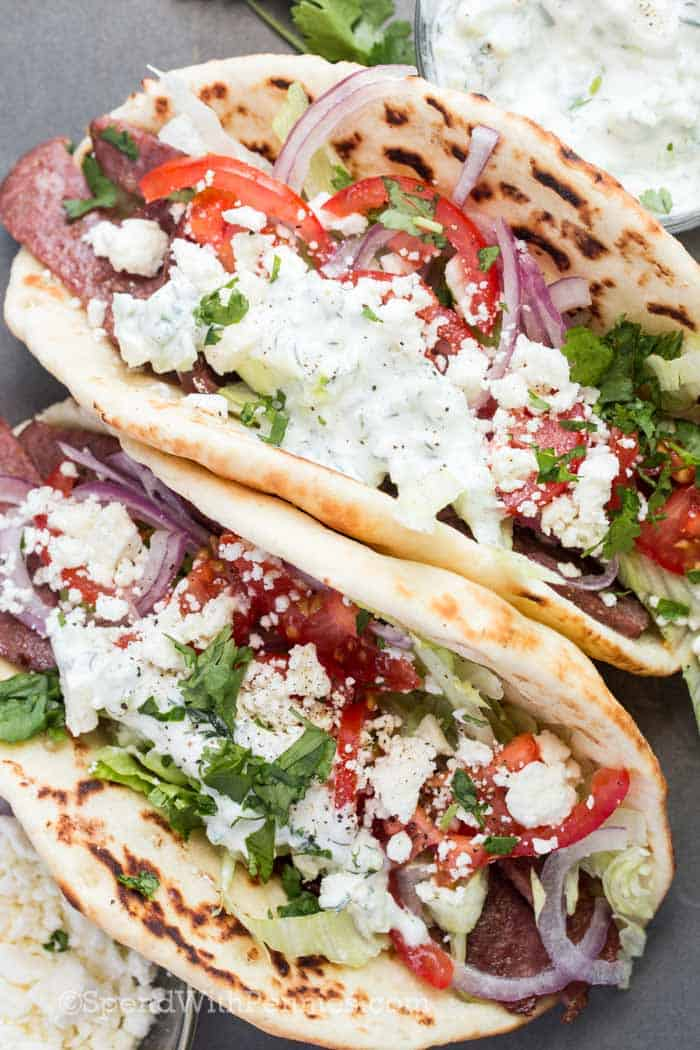 Lamb Gyros with tzatziki
