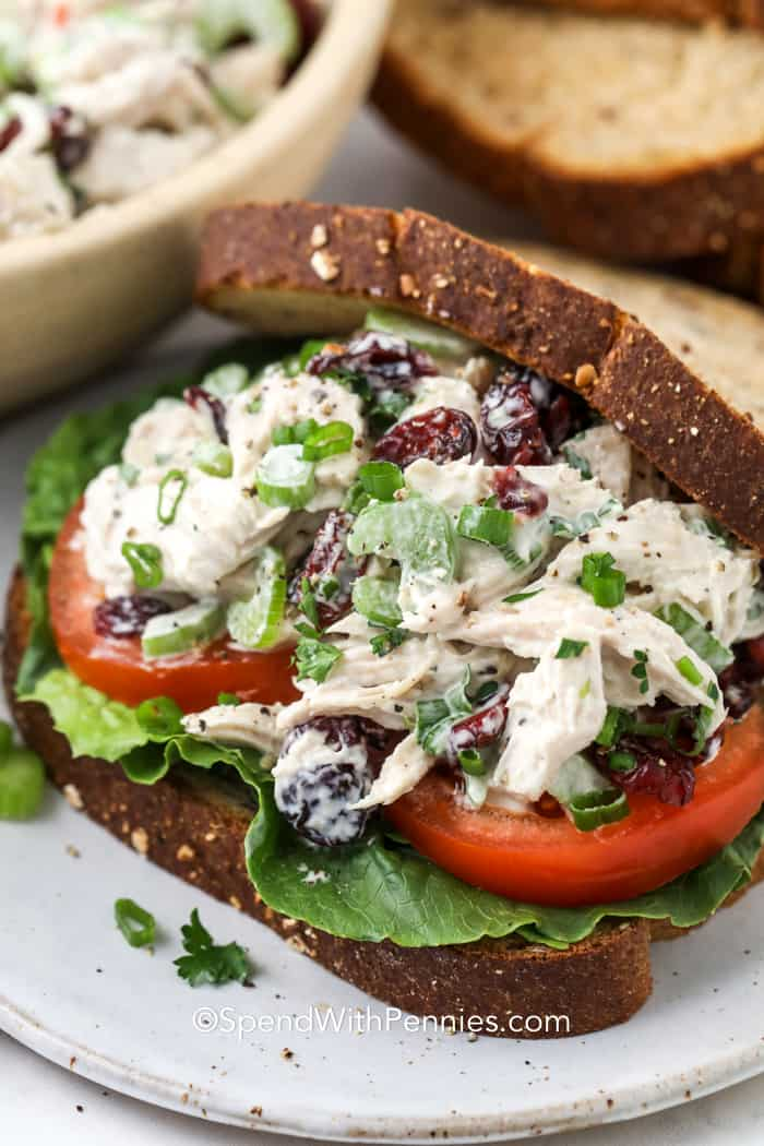 Turkey Salad {Great for Leftover Turkey} - Spend With Pennies